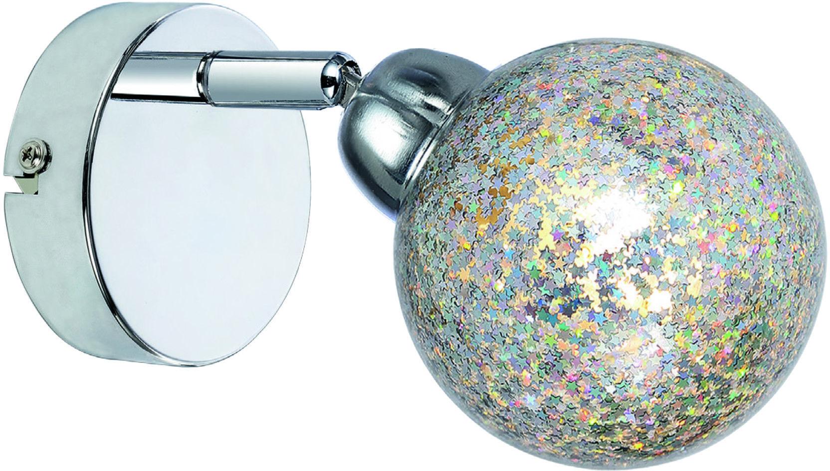Candellux KALEIDOSCOPE 91-61553 kinkiet lampa ścienna regulacja klosza gwiazdki 1X4W LED G9 chrom 8cm