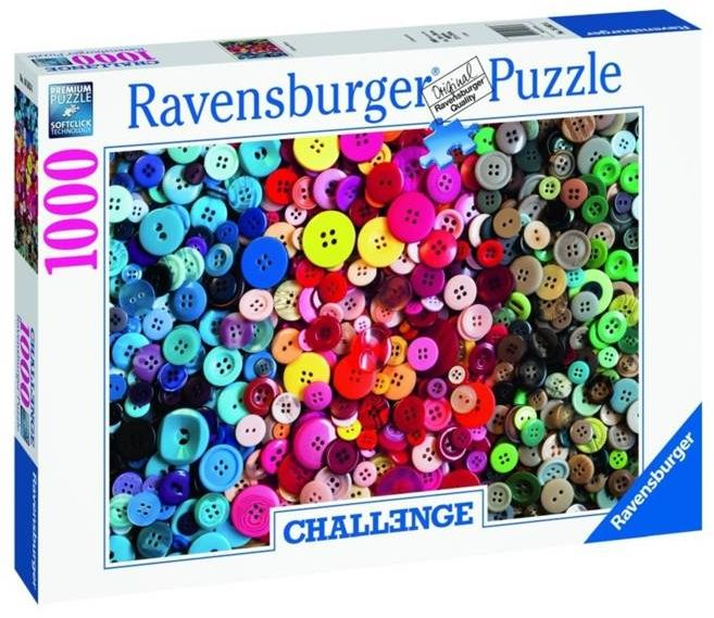 Puzzle 1000 Challenge. Kolorowe guziki - Ravensburger