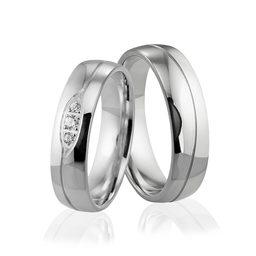 Obrączki srebrne z kamieniami - wzór Ag-305