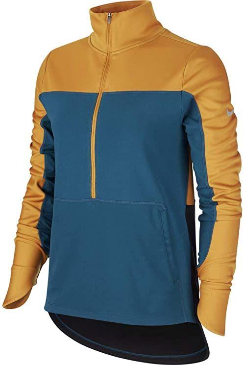 Nike Damska koszulka Repel Top Midlayer wielokolorowa Gold Suede/Midnight Turq/Refle XL