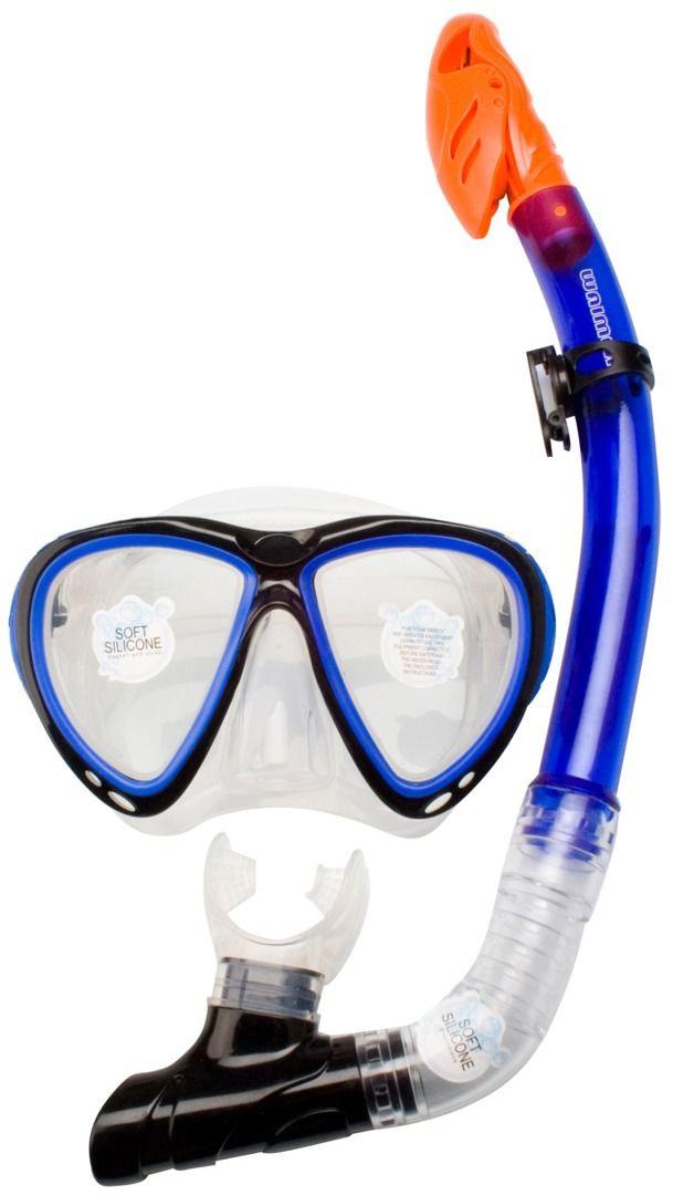 Maska z silikonową fajką do nurkowania Waimea