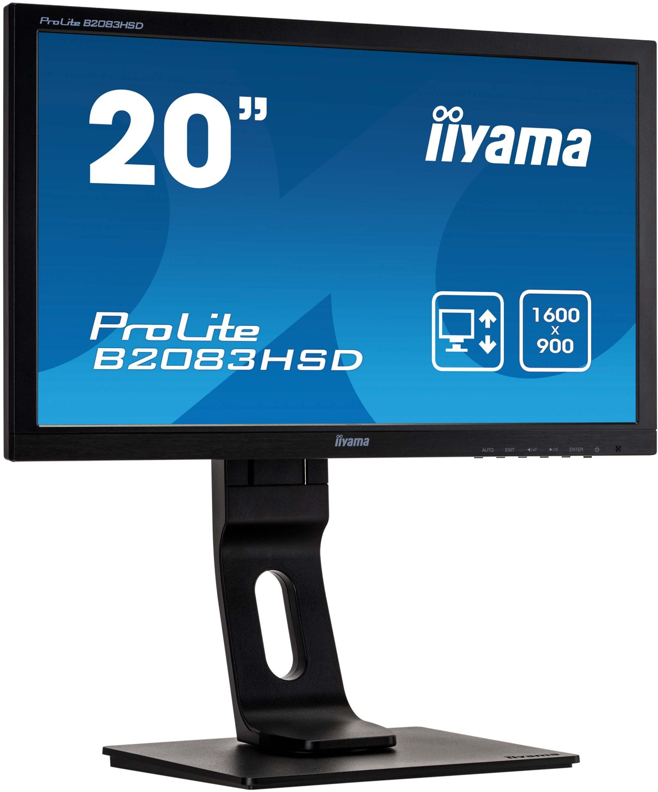 Monitor iiyama ProLite B2083HSD-B1 20'' FLICKER FREE HD LED + WYSYŁKA W 24H GRATIS !! AUTORYZOWANY SKLEP IIYAMA