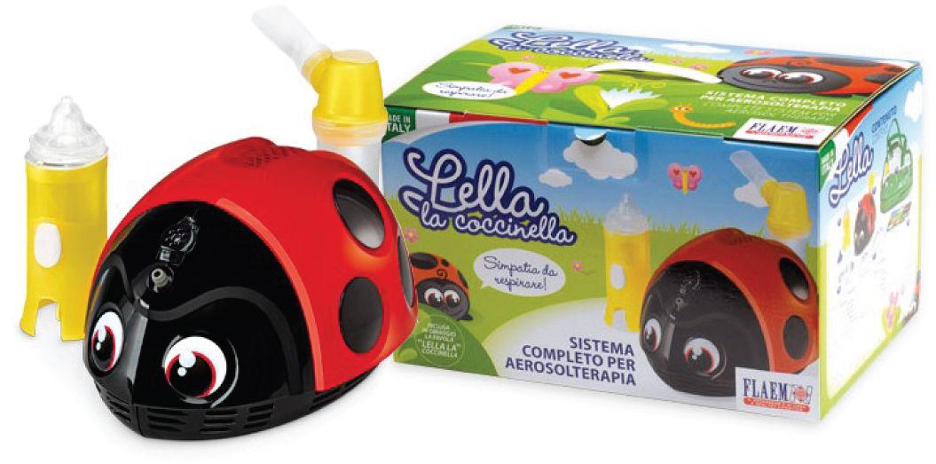 FLAEM Lella la Coccinella - Biedronka Inhalator pneumatyczno-tłokowy dla dzieci certyfikowany