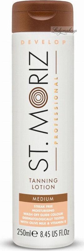 ST. MORIZ - Tanning Lotion - Brązujący balsam do ciała - Medium - 250 ml