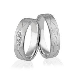Obrączki srebrne z kamieniami - wzór Ag-306