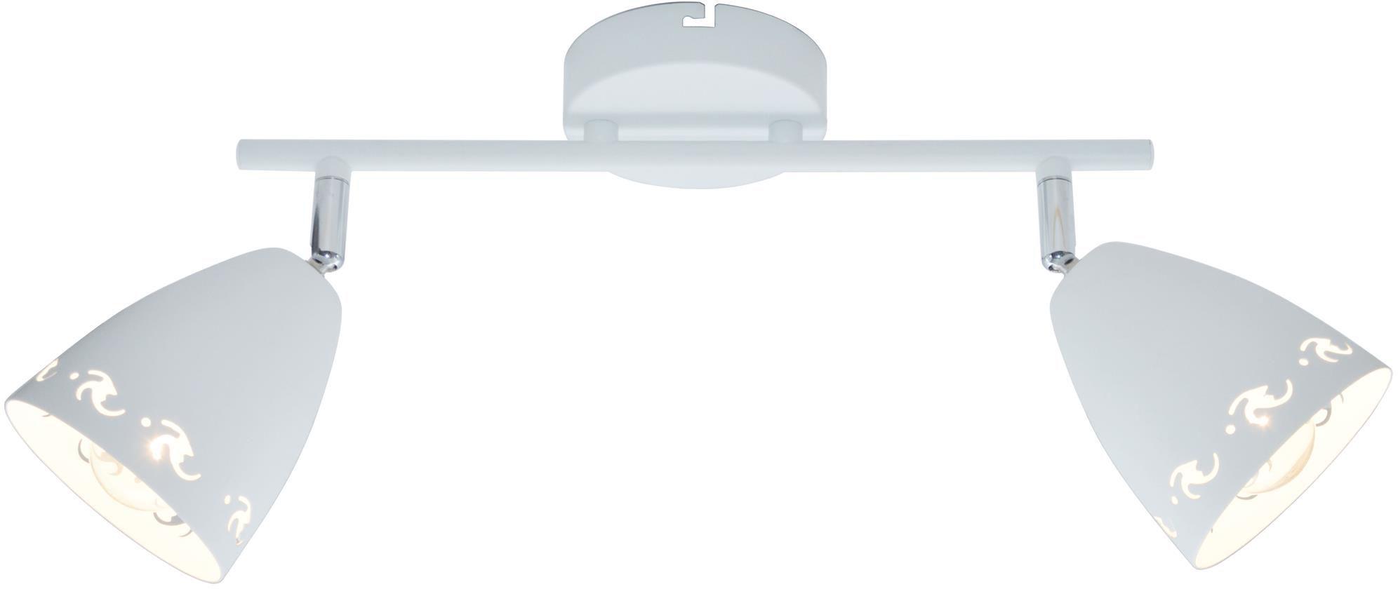 Candellux COTY 92-67128 oprawa oświetleniowa spot 2X40W E14 biały mat metalowy klosz 50cm