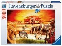 Puzzle Ravensburger 3000 - Sawanna Masajów, Proud Maasai