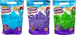 Kinetic Sand, Żywe kolory, 0.9kg niebieskiego piasku kinetycznego, dla dzieci od 3 lat