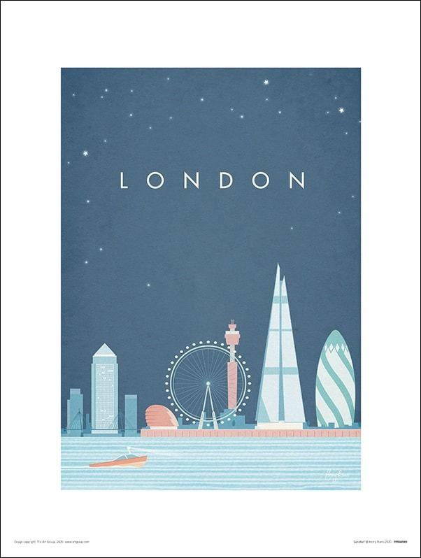Londyn znane budowle - plakat premium