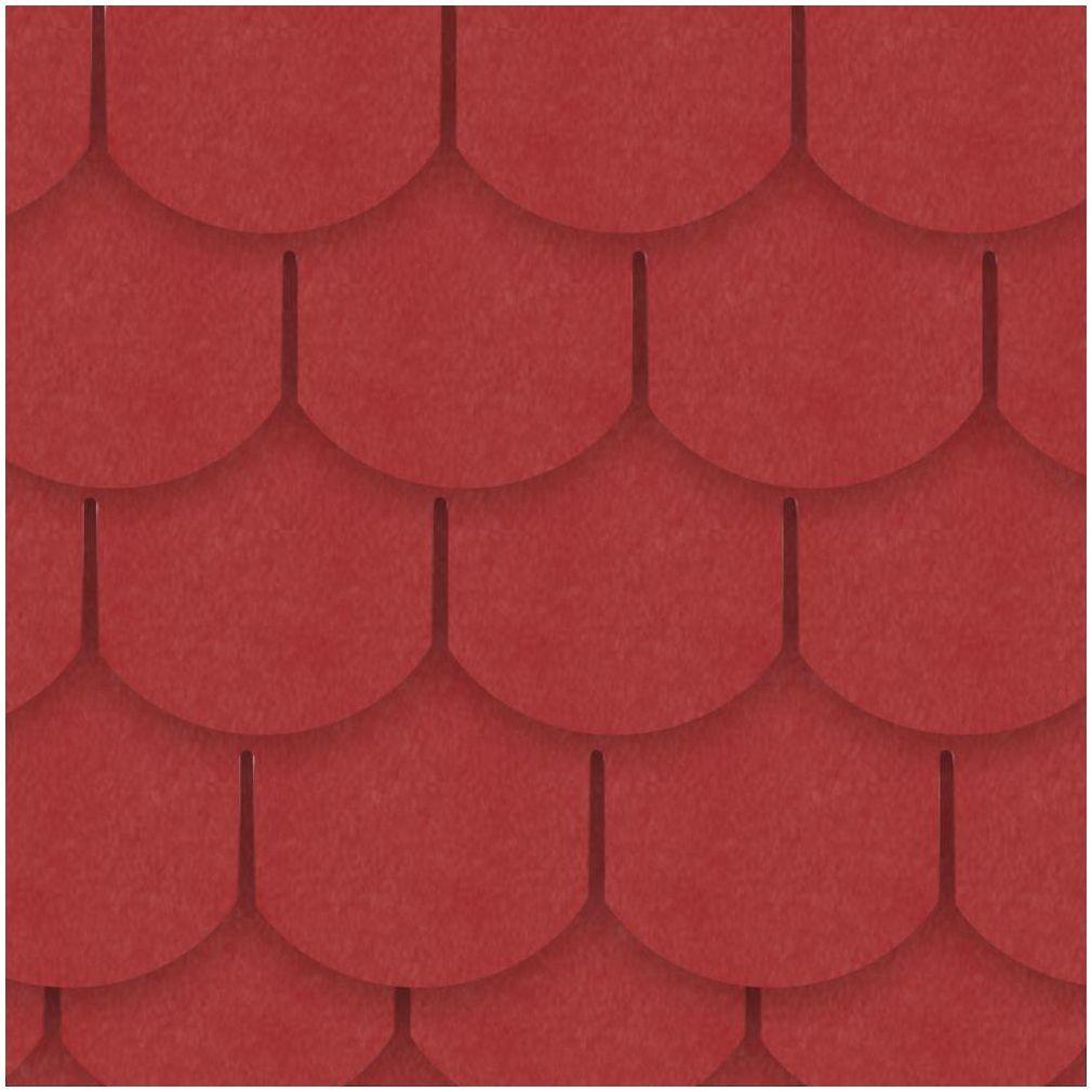 Gont bitumiczny KARPIÓWKA Czerwony 3 m2 IZOLMAT