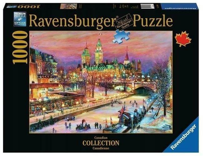 Puzzle Ravensburger 1000 - Ottawa Zimowy Festiwal, Winterlude Festival