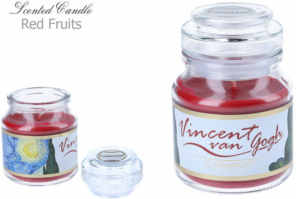 Carmani, świeczka zapachowa american mały - V. Van Gogh. Red Fruit