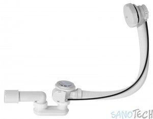 Syfon automatyczny do wanny biały A51B