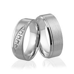 Obrączki srebrne z kamieniami - wzór Ag-307