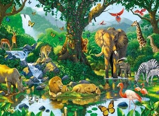 Puzzle Ravensburger 500 - Harmonia w dżungli, Harmony in the Jungle