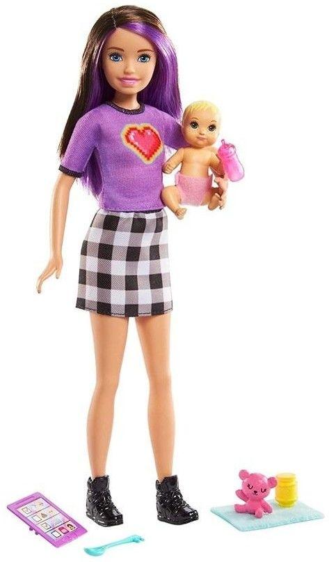 Barbie - Opiekunka dziecięca Lalka i bobas GRP11
