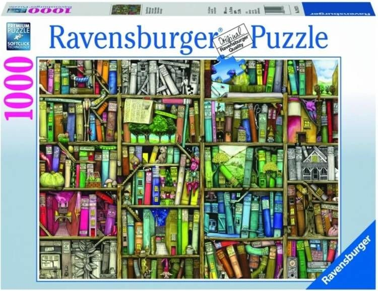 Puzzle 1000 Magiczna półka na książki - Ravensburger