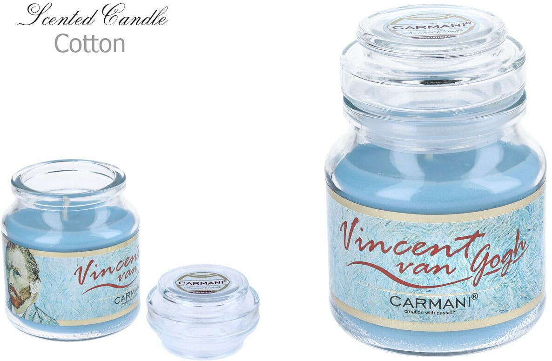 Carmani, świeczka zapachowa american mały - V. Van Gogh. Cotton