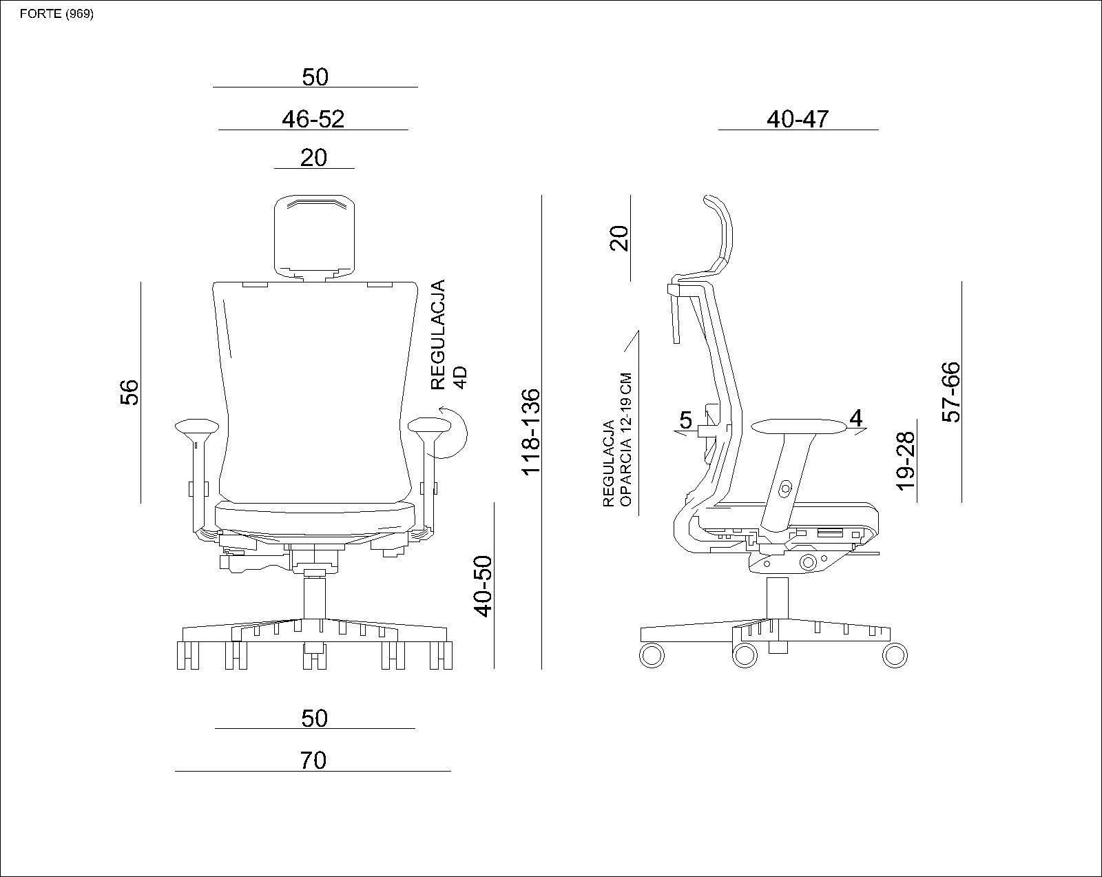 UNIQUE Fotel biurowy FORTE skóra naturalna