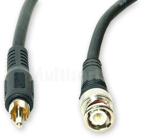 Kabel 1m wtyk BNC - wtyk Cinch RCA