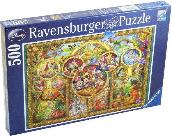 Puzzle Ravensburger 500 - Rodzina Disney''a, Disney family