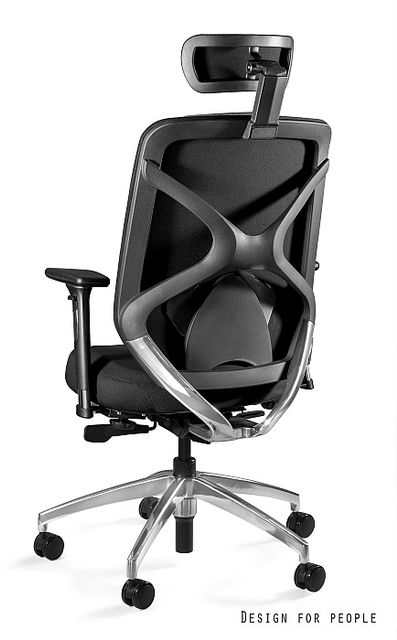 UNIQUE Fotel biurowy HERO czarny tkanina