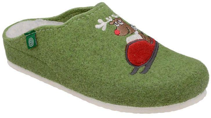 Kapcie Dr BRINKMANN 320541-7 Pistacja Pantofle domowe Ciapy zdrowotne - Zielony Pistacjowy Multikolor