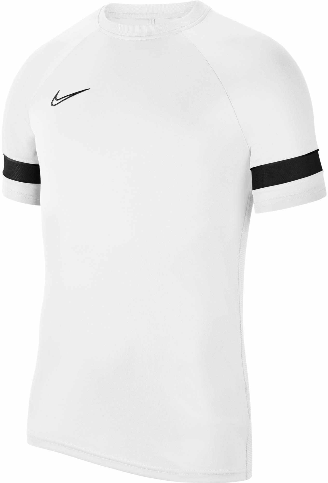 Nike Dri-Fit Academy 21, męska koszulka z krótkim rękawem, biała/czarno-czarna, 2XL