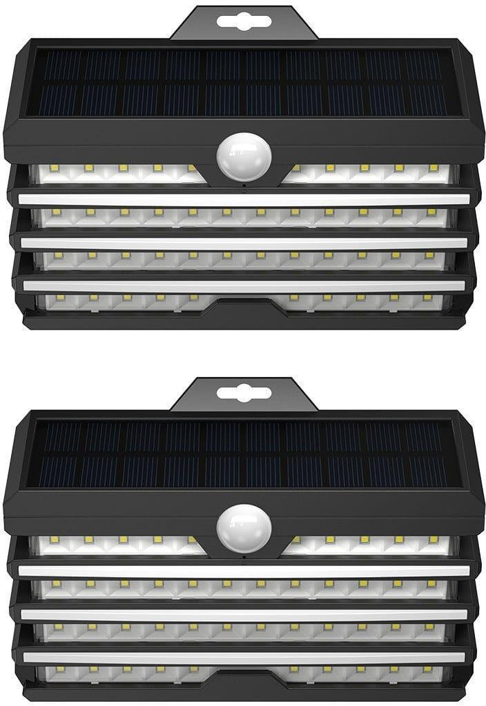 Zewnętrzna lampa solarna LED Baseus z czujnikiem ruchu - 2 sztuki (czarny)