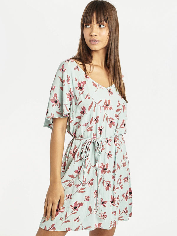 Billabong FINE FLUTTER BEACH GLASS krótkie sukienki - L
