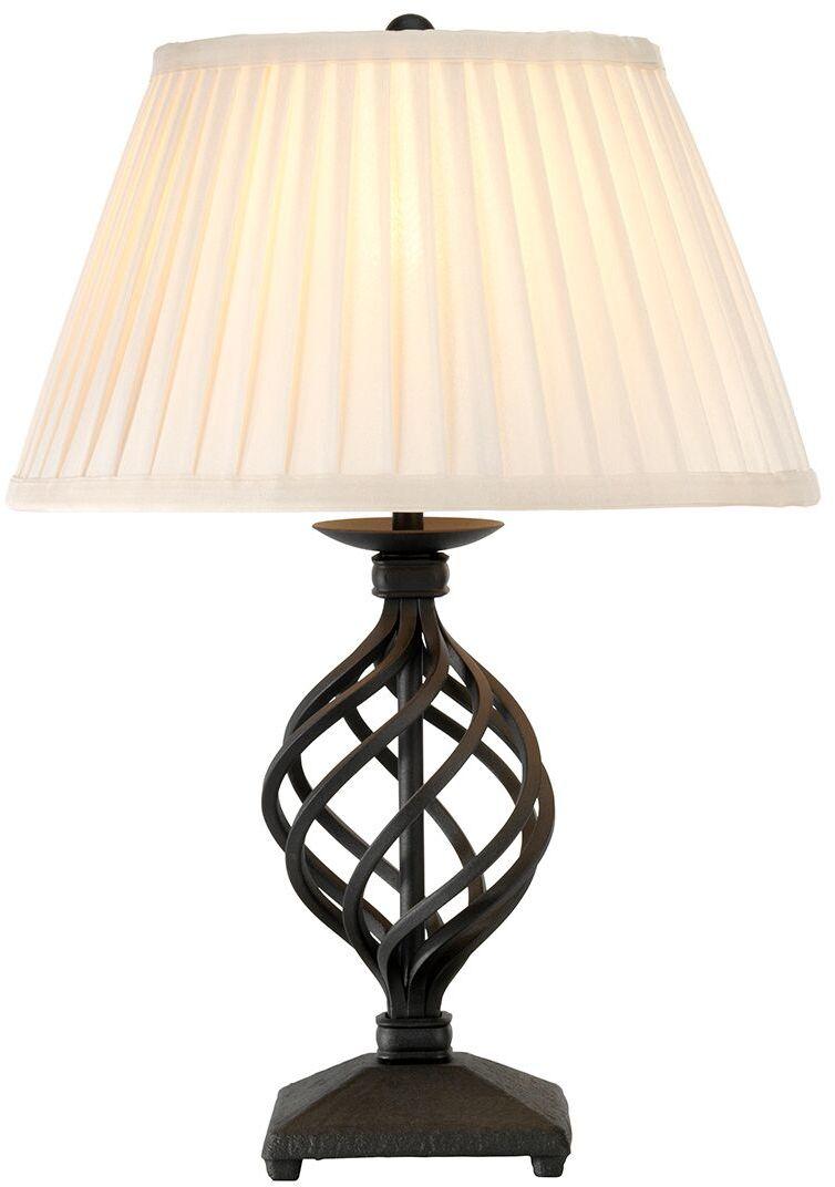 Lampa stołowa Belfry Elstead Lighting czarna oprawa w klasycznym stylu