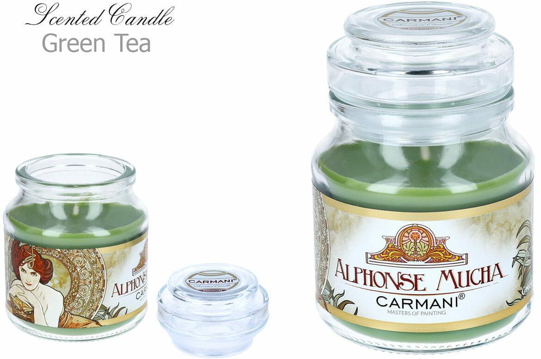Carmani, świeczka zapachowa american mały - A. Mucha. Szmaragd - Green Tea