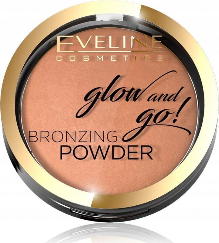 Eveline Cosmetics - Glow and Go! Bronzing Powder - Wypiekany bronzer - 02 JAMAICA BAY