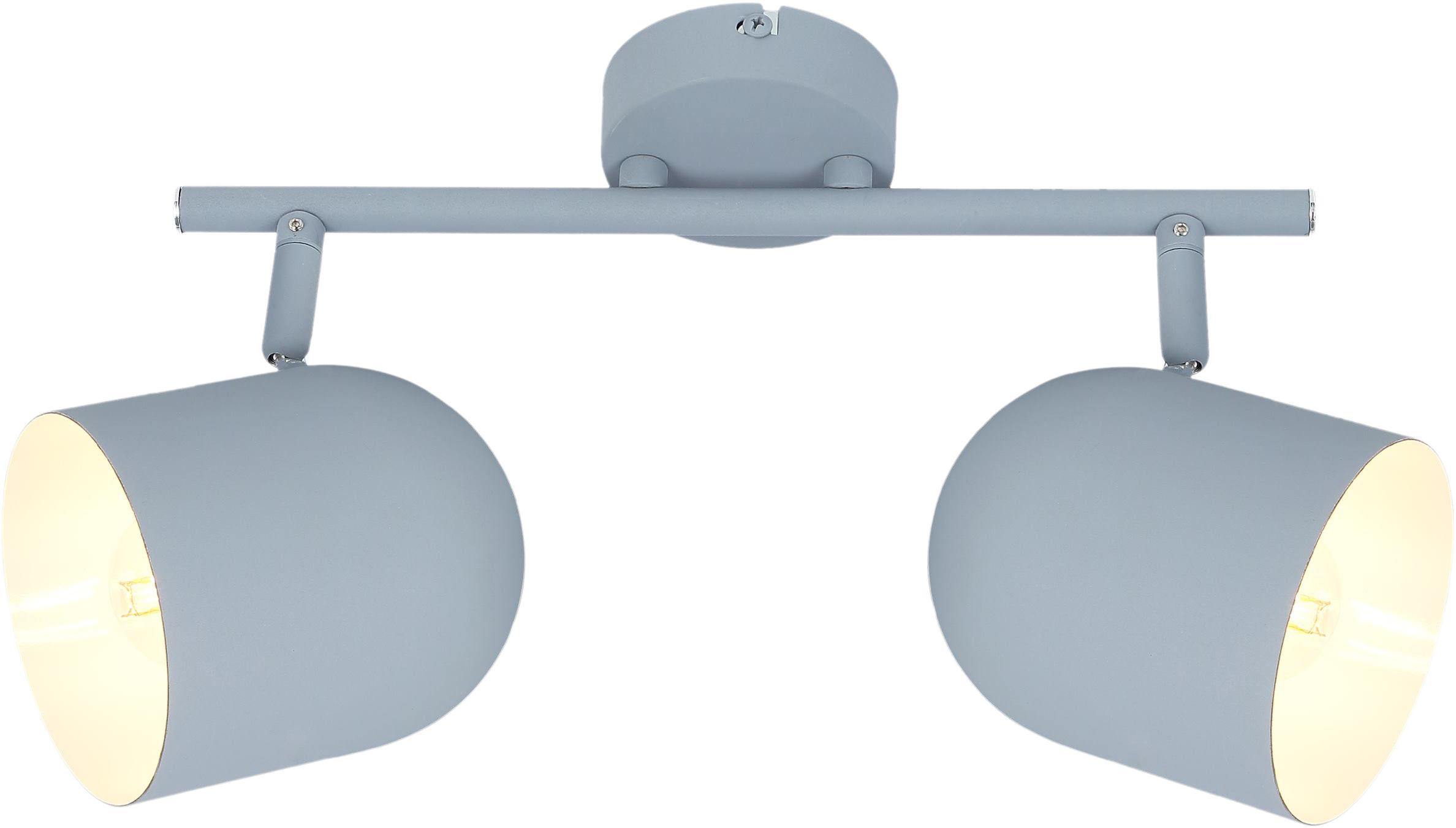 Candellux AZURO 92-63212 oprawa oświetleniowa spot szary mat metalowy klosz 2X40W E27 38cm