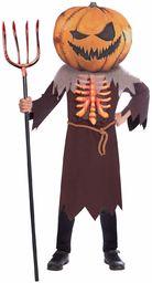 Amscan 9907138 - kostium dziecięcy straszna dynia, żabka, maska dyni, kostium horroru, szkielet, impreza tematyczna, karnawał, Halloween