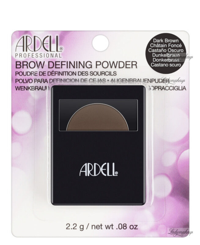 ARDELL - BROW DEFINING POWDER - Cień do stylizacji brwi - DARK BROWN