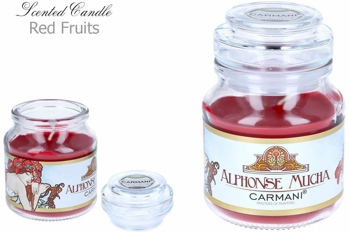 Carmani, świeczka zapachowa american mały - A. Mucha. Lato - Red Fruit