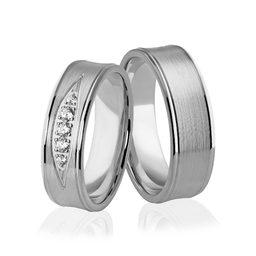 Obrączki srebrne z kamieniami - wzór Ag-309