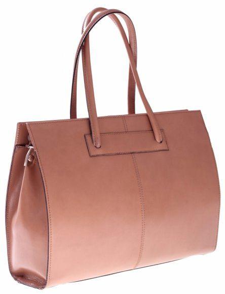 Torebka skórzana Aktówka A4 Made in Italy Genuine Leather beżowa