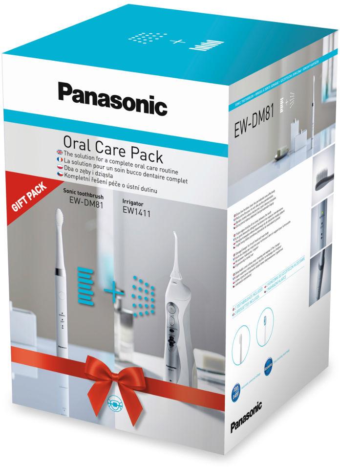 PANASONIC zestaw Oral Care - irygator do zębów EW1411 + szczoteczka soniczna DM81