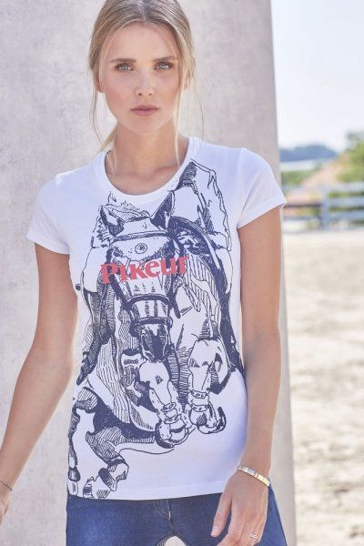 Koszulka damska RINA SS20 - Pikeur - white