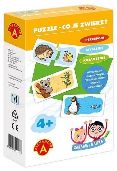 Zabawa i Nauka - Puzzle Co je zwierz? ALEX