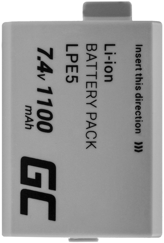 Akumulator Bateria Green Cell  LP-E5 LPE5 do Canon EOS 450D 500D 1000D Kiss F X2 X3 Rebel XS Xsi Full Decoded 7.4V 1100mAh