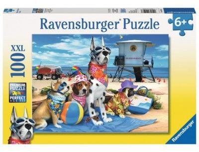 Puzzle Ravensburger 100 - Żadnych psów na plaży, No Dogs on the Beach