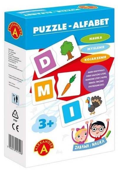 Zabawa i Nauka - Puzzle Alfabet ALEX