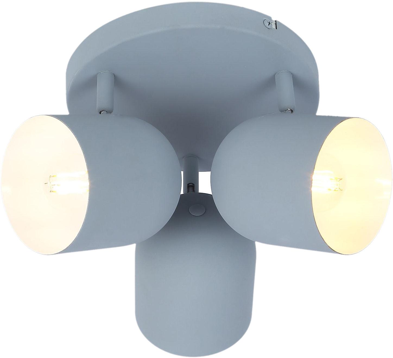 Candellux AZURO 98-63236 plafon lampa sufitowa szary mat metalowy klosz 3X40W E27 32cm