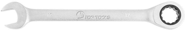 Klucz płasko-oczkowy z grzechotką 17 mm 35D735