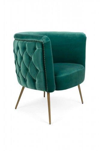 Fotel Lounge Such a stud zielony morski