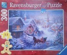 Puzzle Ravensburger 300 - Pędząc przez śnieg, Dashing through the Snow