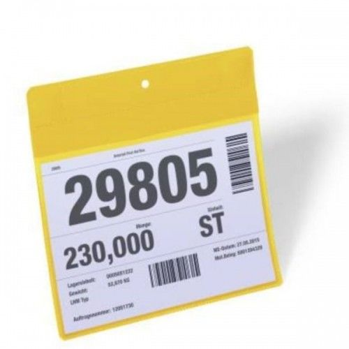 Kieszeń magazynowa magnetyczna neodymowa Plus A5 pozioma DURABLE żółta 10szt. 1746 04